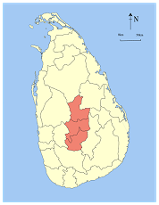 sri lanka central province map